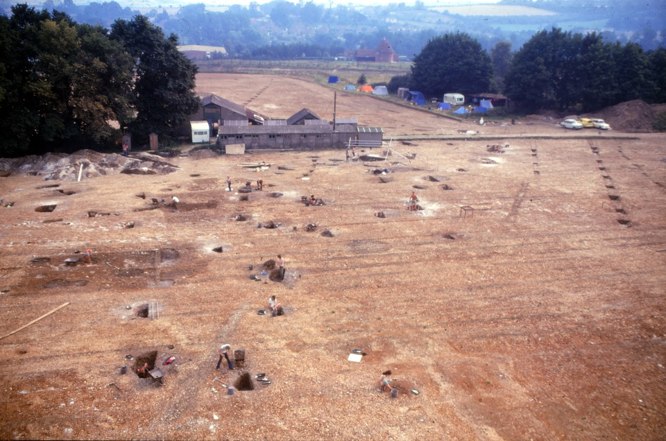 General view of the 1973 excavtions